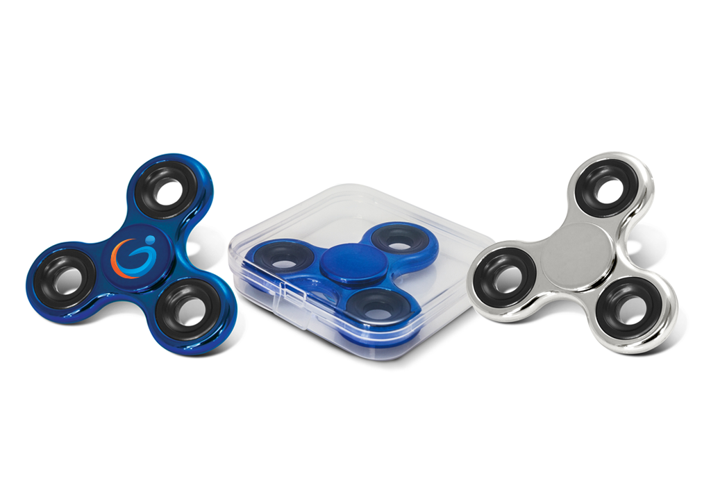 Branded Fidget Spinners-Metallic