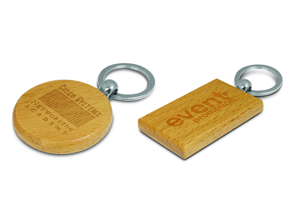 Branded Keyrings - Oak