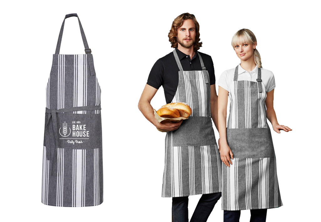 Branded aprons - ChambrayStripe